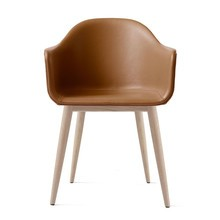 Menu - Harbour Leather Armchair with Oak Base