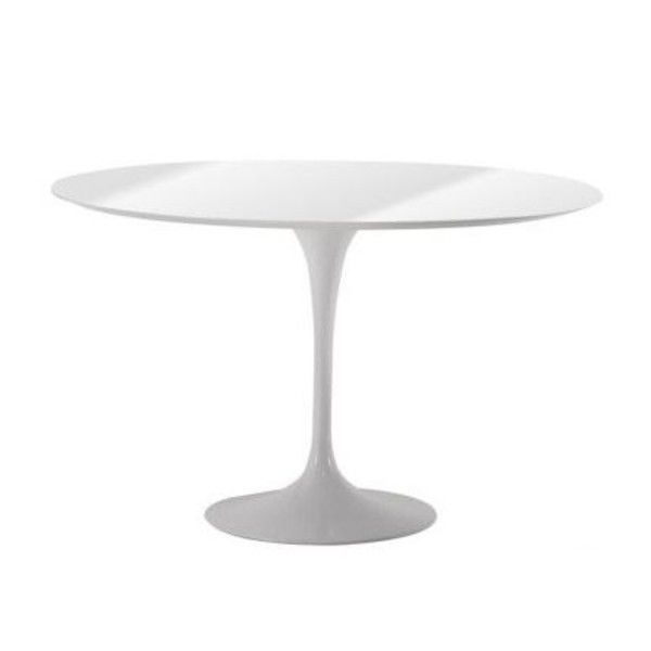 Saarinen table 107cm knoll international for Table ronde 100 cm avec rallonge