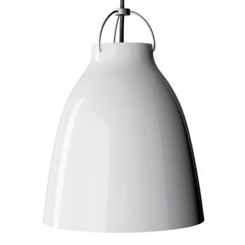 Lightyears - Caravaggio P3 Pendelleuchte - weiß/hochglänzend/Kabel grau/H 51.6cm/Ø 40cm