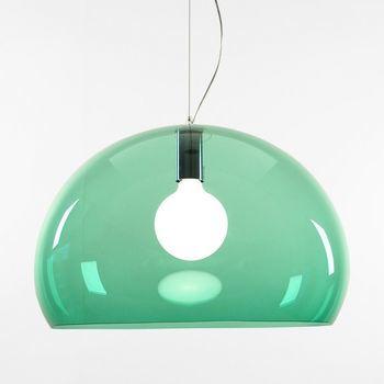 Kartell - FL/Y Icon Pendelleuchte - salbeigrün/transparent/Ø52cm