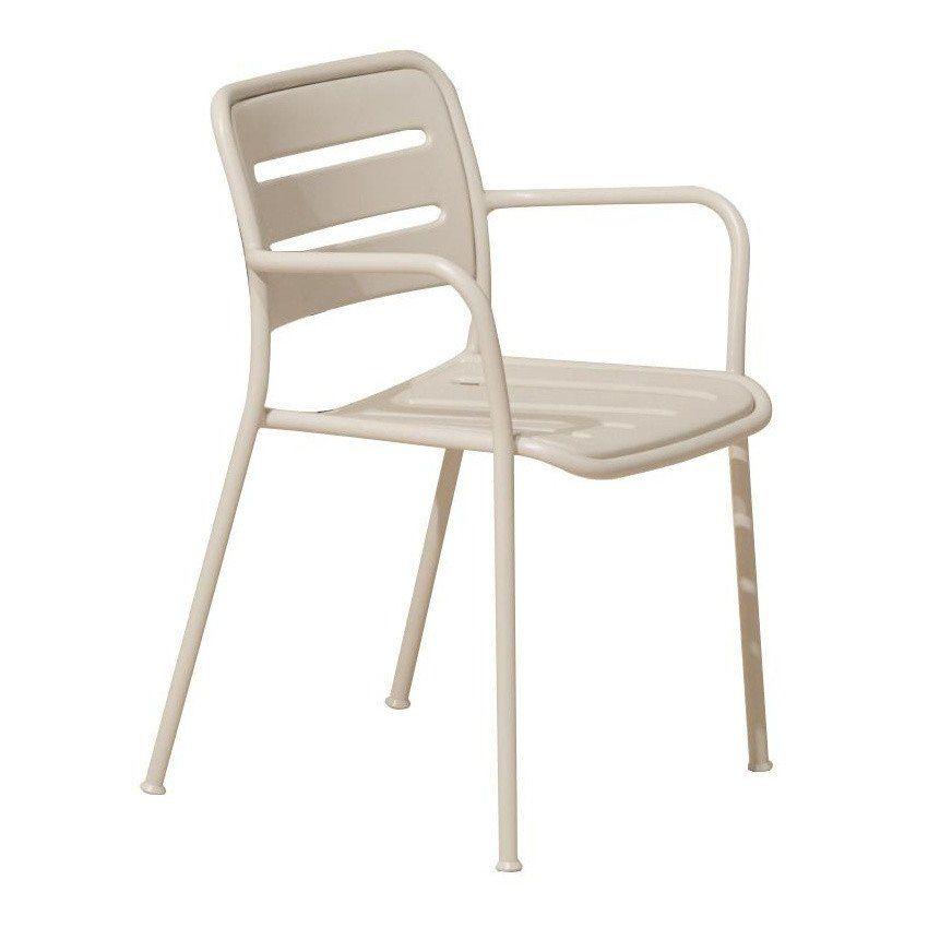 ... Kettal   Village Outdoor Armchair   Bone White/without Cushions/WxHxD  56x80x50cm/aluminium ...