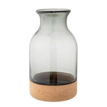 Bloomingville - Cork Vase H:26cm - grau/Ø15 x H26 cm