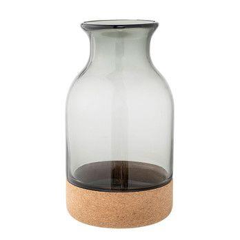 Bloomingville - Cork Vase grau 26cm -