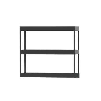HAY - New Order Tray-Regal 100x90cm - charcoal dunkelgrau/lackiert