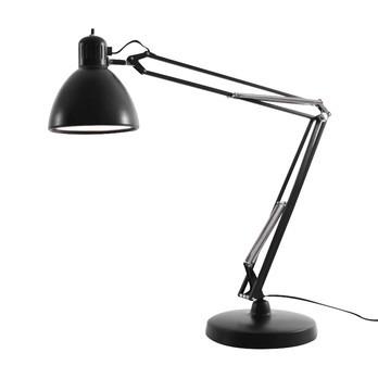 Fontana Arte - Naska 2 Schreibtischleuchte - schwarz/matt/Tischfuß