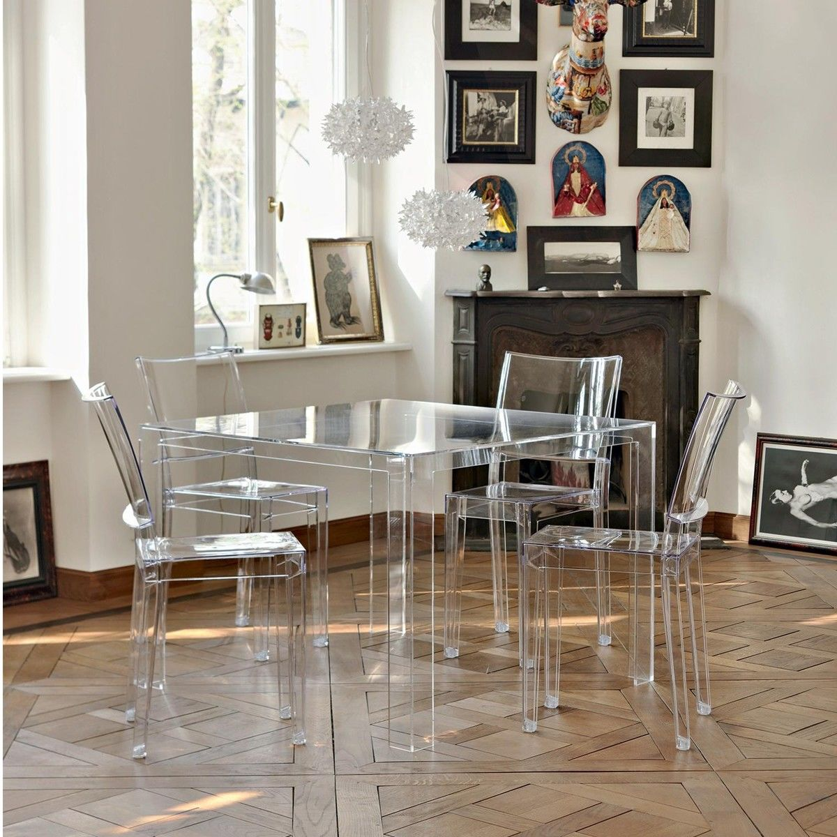 invisible table kartell. Black Bedroom Furniture Sets. Home Design Ideas