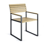 Röshults - Chaise de jardin avec accoudoirs Garden Dinner
