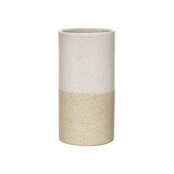 Bloomingville - Barbara Vase  - weiß/Ø11xH22 cm