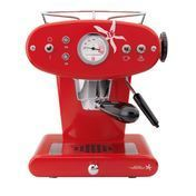 Illy - X1 IPSO capsule espresso maker - red/metal/including 18 capsules (N-roasting)