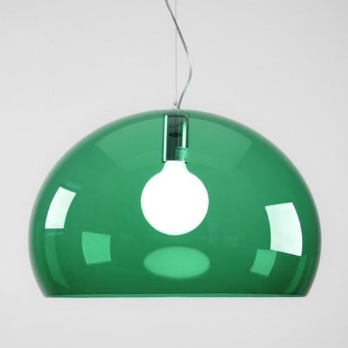 Kartell - FL/Y Icon Pendelleuchte - smaragdgrün/transparent/Ø52cm