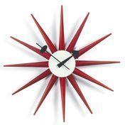 Vitra - Sunburst Clock Nelson Wanduhr - rot/Ø47cm