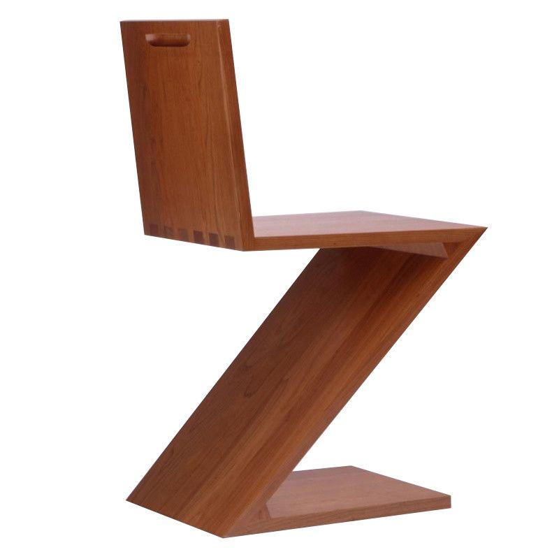 zigzag rietveld stoel cassina. Black Bedroom Furniture Sets. Home Design Ideas