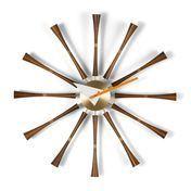 Vitra - Spindle Clock Nelson Wanduhr - walnussholz/aluminium/Ø57.5cm