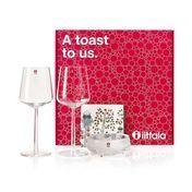 iittala - iittala Gift Set 'A toast to us' - transparent/2x Essence red wine glasses//1x Ultima Thule small bowl/1x Taika napkins