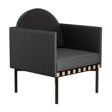 Petite Friture - Grid Sessel mit 2 Armlehnen Gestell Eiche