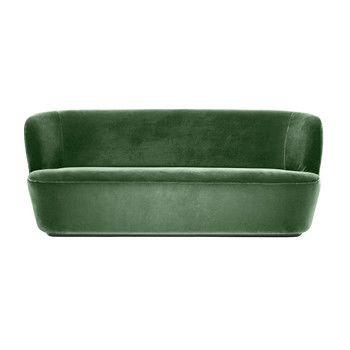 - Stay Sofa 2-Sitzer - grün/Stoff Velluto di Cotone 234/BxHxT 190x78x70cm