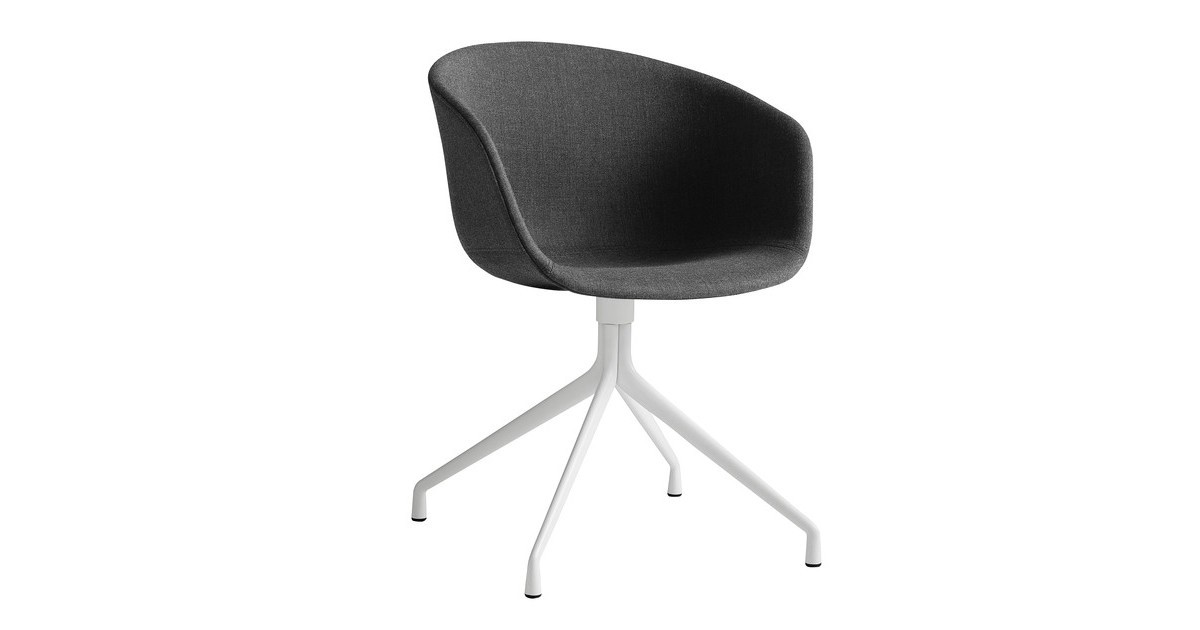 Hay About A Chair 21 Swivel Chair Upholstered White Base Ambientedirect