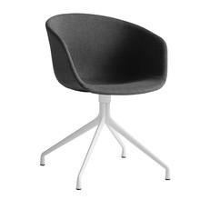 HAY - Chaise pivotante capitonnée About a Chair AAC 21 blanc