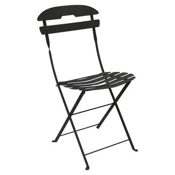 Fermob - La Mome Gartenstuhl / Klappstuhl - lakritz schwarz/Sitzfläche aus Federstahl/hohe Elastizitätsgrenze