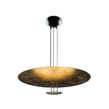 Catellani & Smith - Macchina Della Luce B LED Pendelleuchte - gold/Messing Stäbe/2600K-2800K/1260lm/CRI80/IP20/Scheiben Ø80/17cm