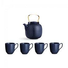 - Hammershøi Set Teekanne mit 4 Tassen