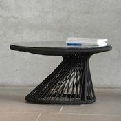 Jan Kurtz - Ray Lounge Beistelltisch - schwarz/inkl. Glasplatte