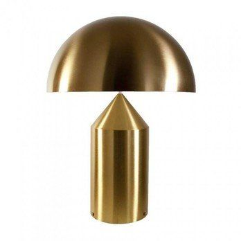 Oluce - Atollo 238 Tischleuchte - gold/glänzend/ohne Dimmer/H35xØ25cm
