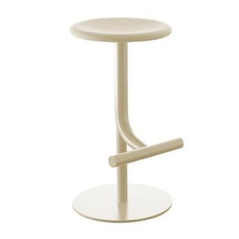 Magis - Tibu Barhocker gepolstert 60-70cm - beige hellgrau/Stoff Steelcut 2 240/pneumatisch höhenverstellbar von 60-77cm/drehbar