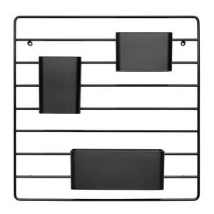 String - String Works Wandorganizer - schwarz/inkl. 3 Aufbewahrungsboxen in schwa/BxHxT 40.5x1x40.5cm