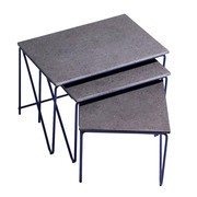 PLEASE WAIT to be SEATED - Triptych Nesting Tables Beistelltisch 3er-Set