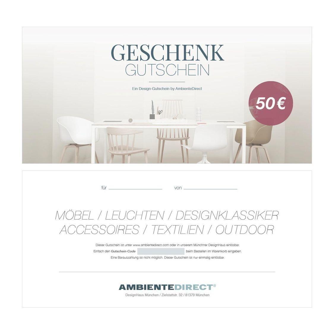 Ambientedirect Gutschein design geschenkgutschein eur ambientedirect ambientedirect com