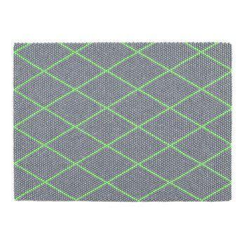 HAY - HAY Dot Teppich 200x150cm - grün eletctric green/LxB 200x150cm/handgearbeitet