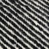GAN - Sail Gan Spaces Pouf/Sitzkissen - schwarz/Handknüpftechnik: Dhurrie/Füllung: Polystrol/75x75x35cm