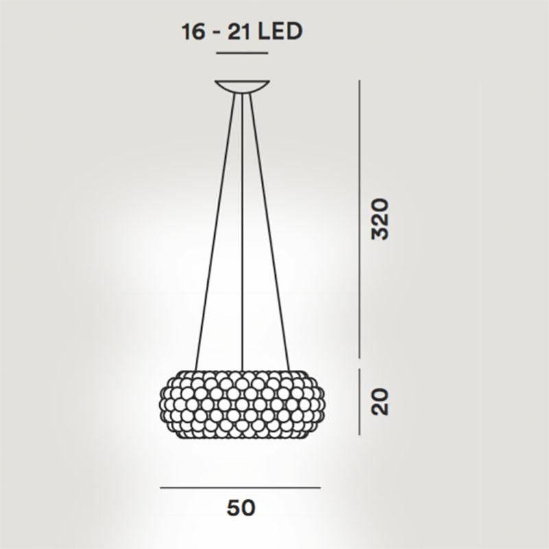 caboche media led suspension lamp foscarini. Black Bedroom Furniture Sets. Home Design Ideas