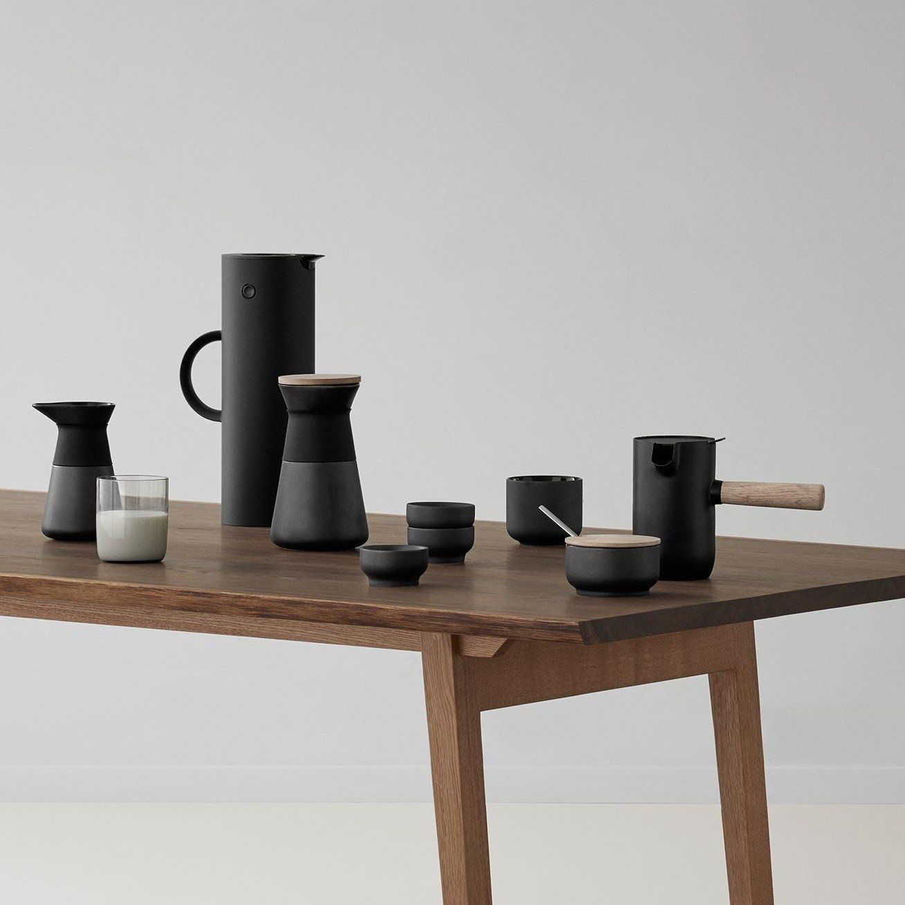 stelton collar kaffeem hle mit deckel ambientedirect. Black Bedroom Furniture Sets. Home Design Ideas