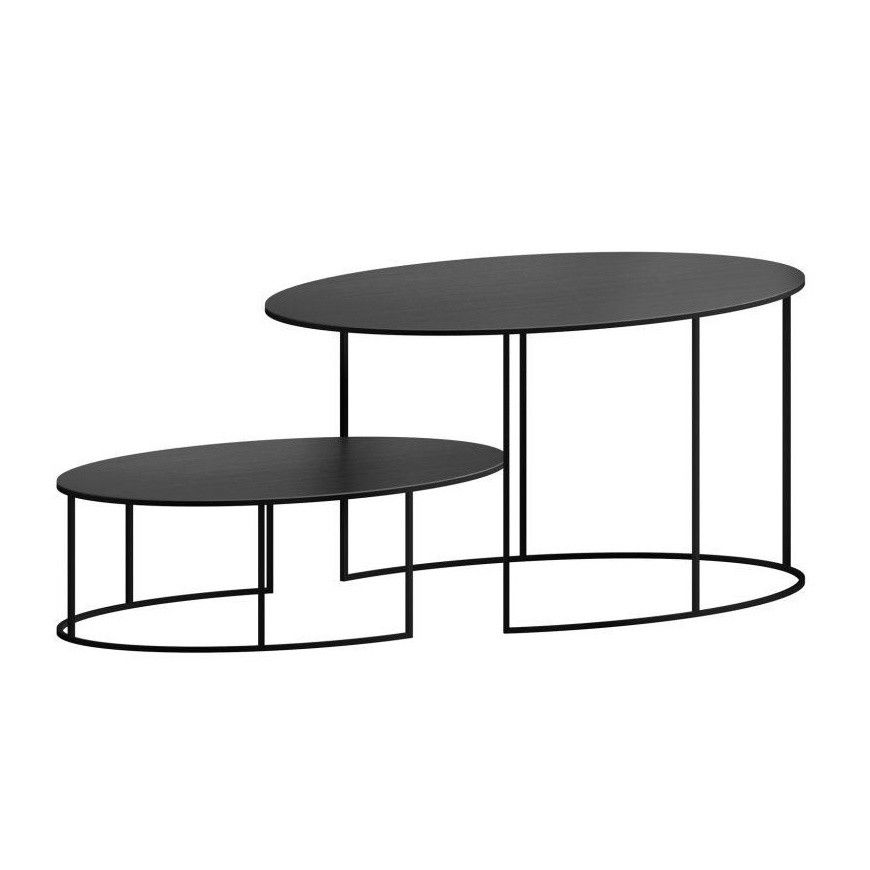 Slim Irony Oval Coffee Table Zeus