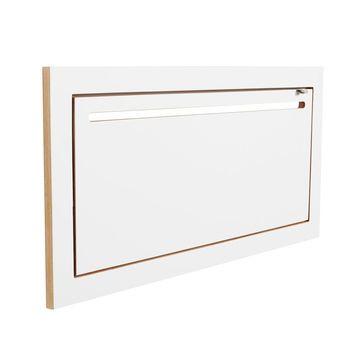 AMBIVALENZ - Fläpps Hängrail Kleiderstange Wandgarderobe - weiß/Kante Holz/lackiert/B x H x T: 80 x 40 x 30cm