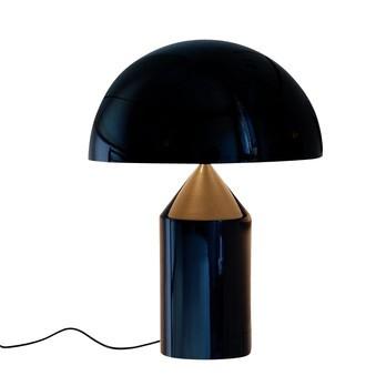 Oluce - Atollo 239 Tischleuchte - schwarz/Innenseite weiß/mit Dimmer/H50xØ38cm
