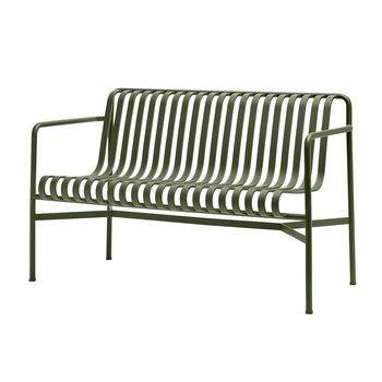 - Palissade Dining Bank - olivengrün/pulverbeschichtet/128x80x70cm