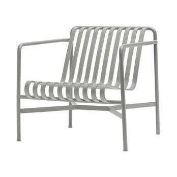HAY - Palissade Lounge Stuhl niedrig - dusty grau/pulverbeschichtet/73x70x81cm