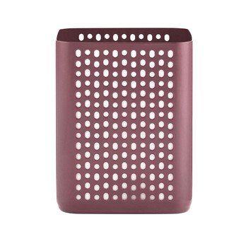 Normann Copenhagen - Nic Nac Organizer Aufbewahrungsbox H 13cm - dunkelrot/pulverbeschichtet/LxBxH 10,5x10,5x13cm