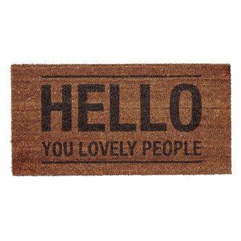 Bloomingville - Hello People Fußmatte - natur/Kokosbast/80x40x1,5cm