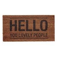Bloomingville - Hello People Doormat