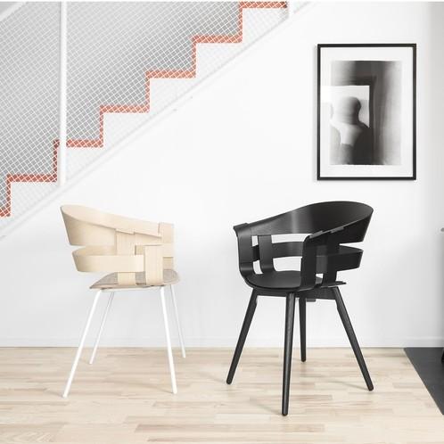 DesignHouseStockholm - Wick Armlehnstuhl mit Metallgestell weiß