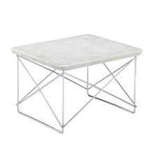 Vitra - Table d'appoint marbre Occasional Table LTR structure chromé