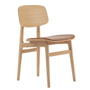NORR 11 - NY11 Dining Chair Leder Gestell Eiche Natur