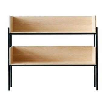 - Vivlio Setup 2 Regalsystem - Esche natur/2 Fächer/Gestell schwarz/83.5x70x34cm