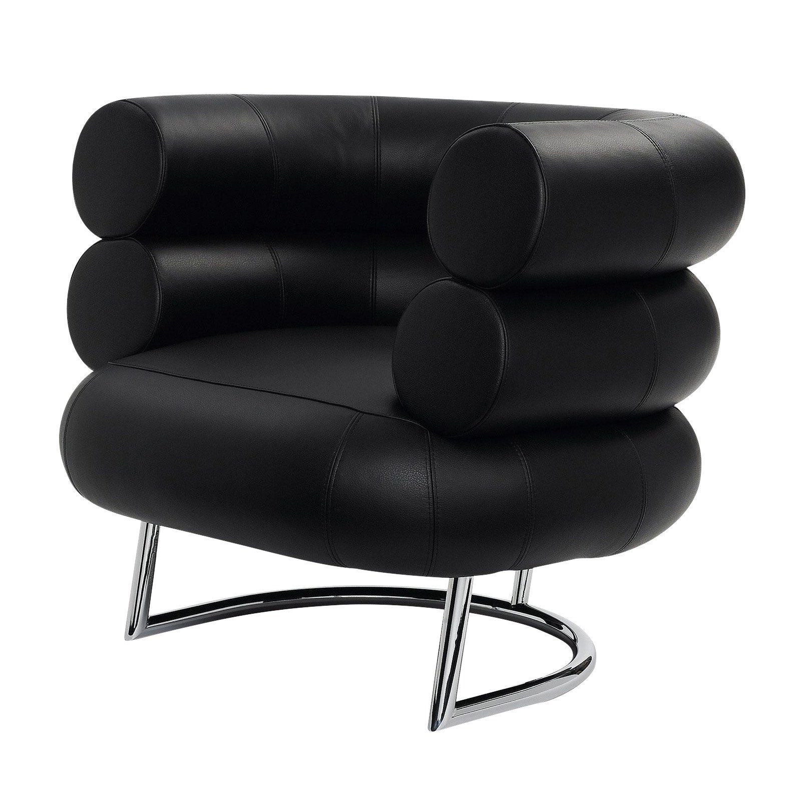 Classicon  Bibendum Armchair Frame Chrome  Blackleather Classic