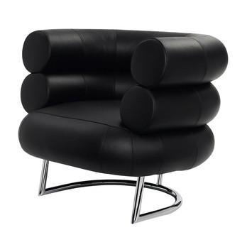 ClassiCon - Bibendum Sessel Gestell Chrom - schwarz/Leder Classic
