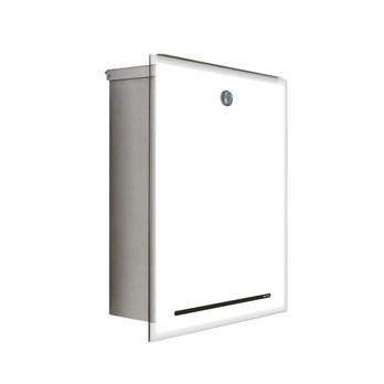 Radius - Letterman III Briefkasten - weiß/Glasfront
